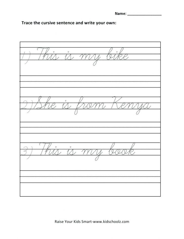 Free Printable Cursive Writing Paragraphs