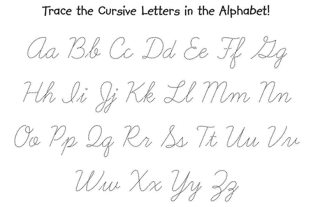 Cursive Writing Alphabet Printable Free Print Alphabet Letter - Free Printable Cursive Alphabet