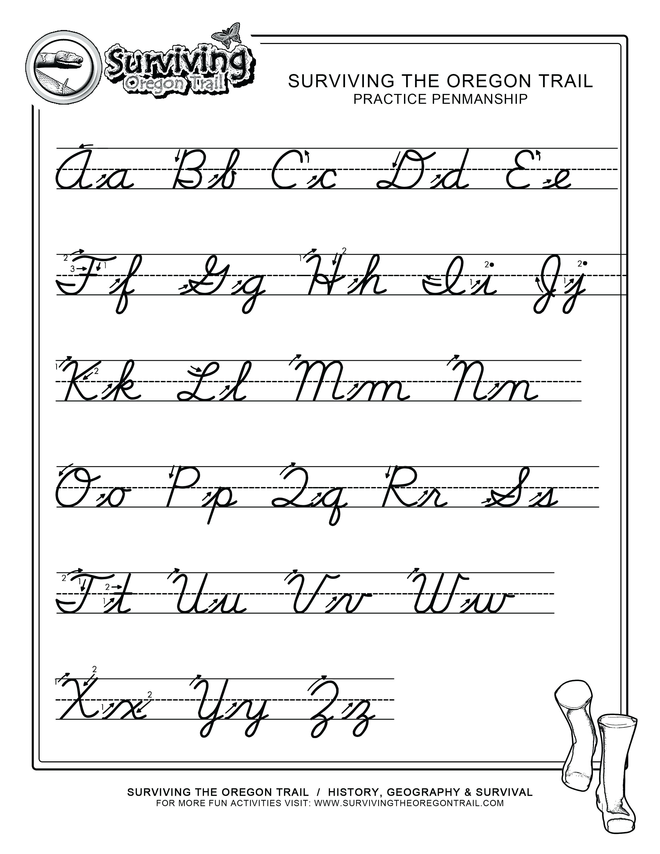 Cursive Writing Alphabet Printable Free Print Alphabet Letter - Free Printable Cursive Handwriting Worksheets