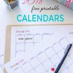 Custom Editable Free Printable 2018 Calendars   Sarah Titus   Free 2018 Planner Printable