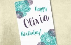 Customized Birthday Cards Free Printable