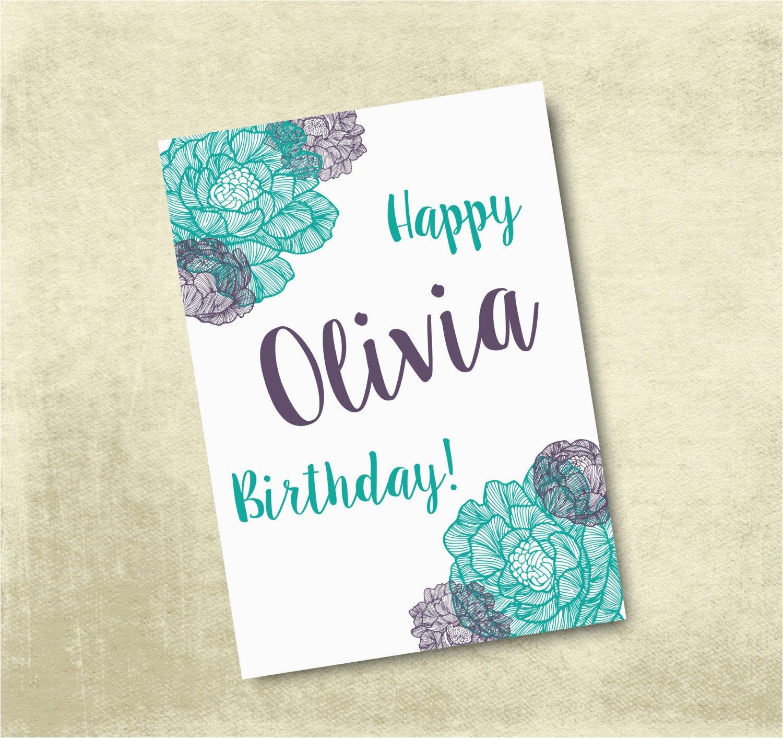 Customized Birthday Cards Free Printable | Birthdaybuzz - Free Printable Personalized Birthday Cards