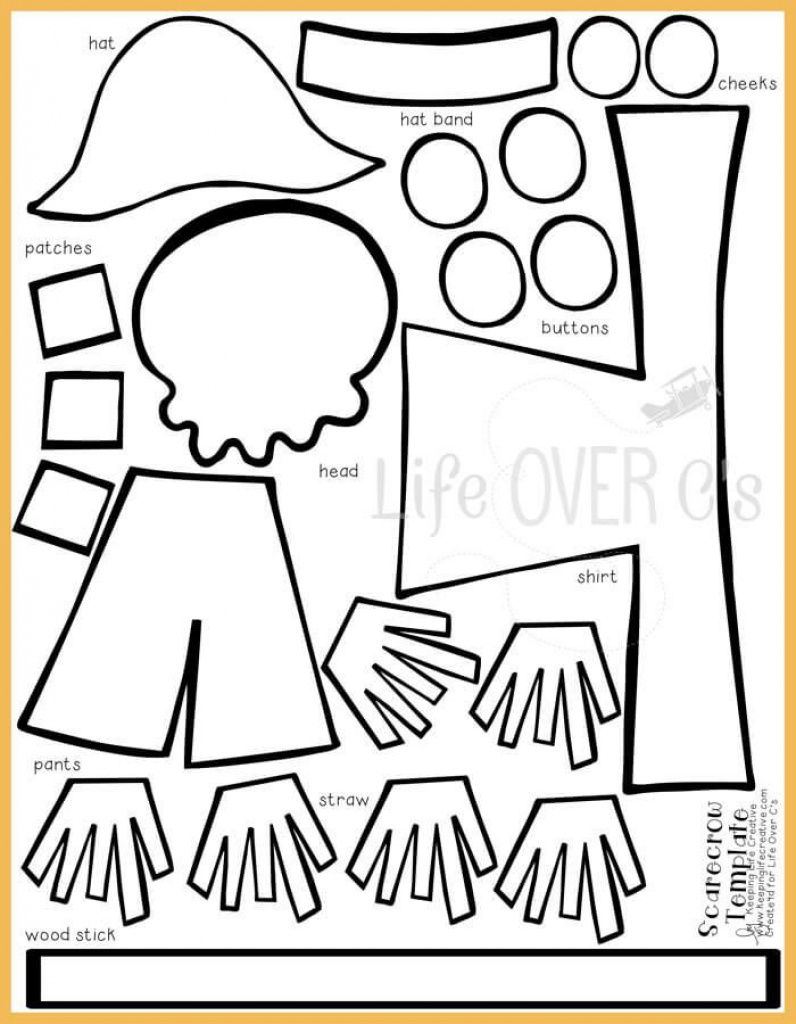 Cut And Paste Scarecrow Craft For Fall | Fall Activities For Kids - Free Scarecrow Template Printable