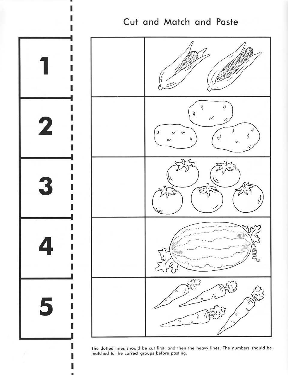 Cut, Count, Match And Paste / Free Printable | Pre-K Math - Free Printable Kindergarten Worksheets Cut And Paste