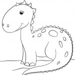 Cute Cartoon Dinosaur Coloring Page | Free Printable Coloring Pages   Free Printable Dinosaur Coloring Pages