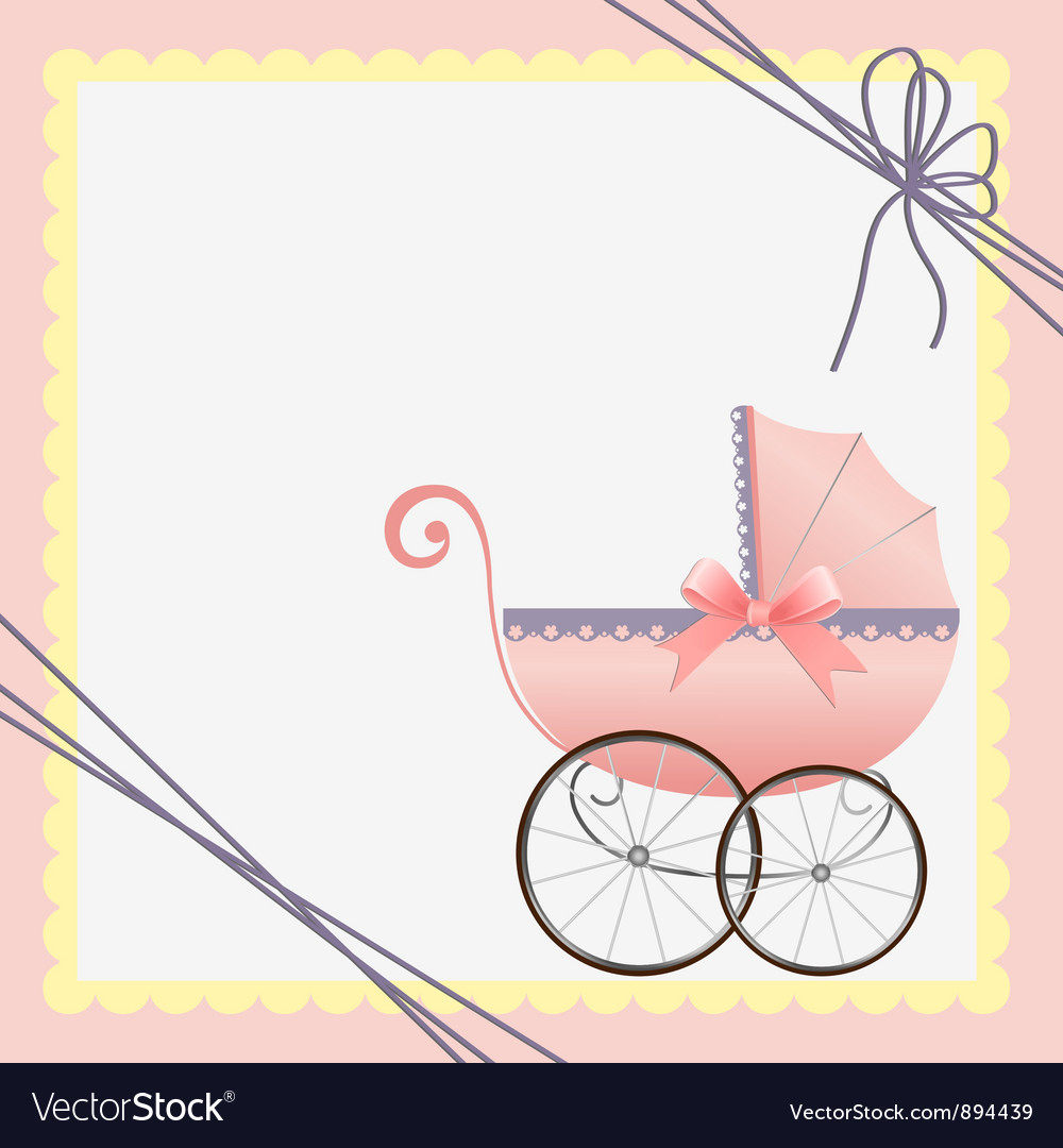 Cute Template For Baby Card Royalty Free Vector Image - Free Printable Baby Cards Templates