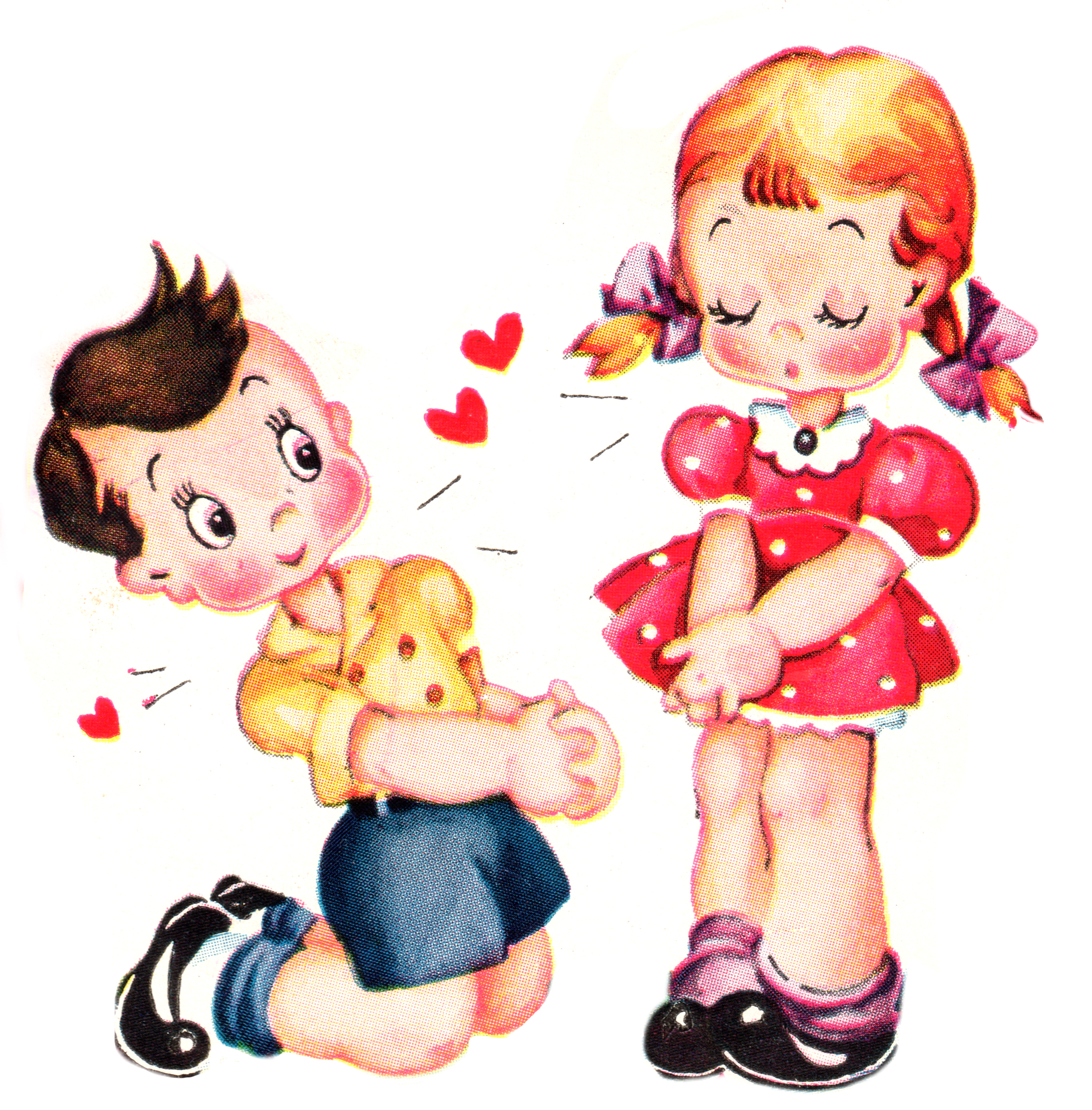 Cute Vintage Valentines Day Clip Art - Free Pretty Things For You - Free Printable Vintage Valentine Clip Art