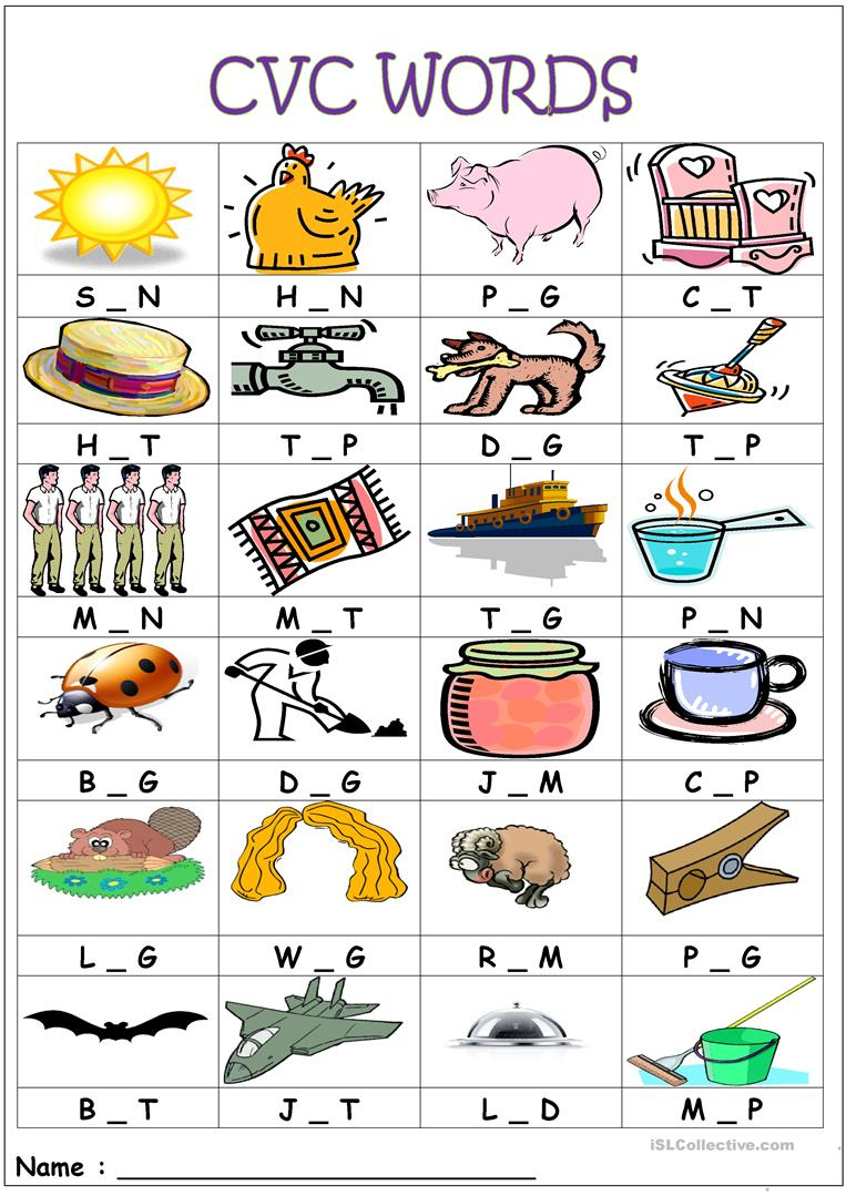 Cvc Words- Medial Sounds Worksheet - Free Esl Printable Worksheets - Cvc Words Worksheets Free Printable