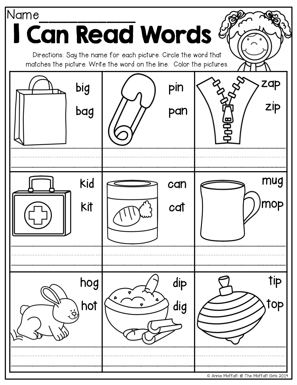 Cvc Worksheets For Kindergarten For Free Download - Math Worksheet - Free Printable Cvc Worksheets