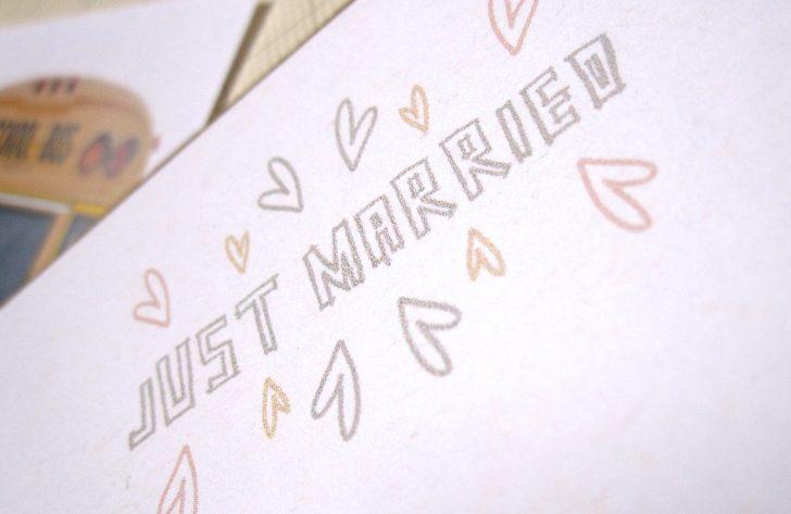Just Married Free Printable