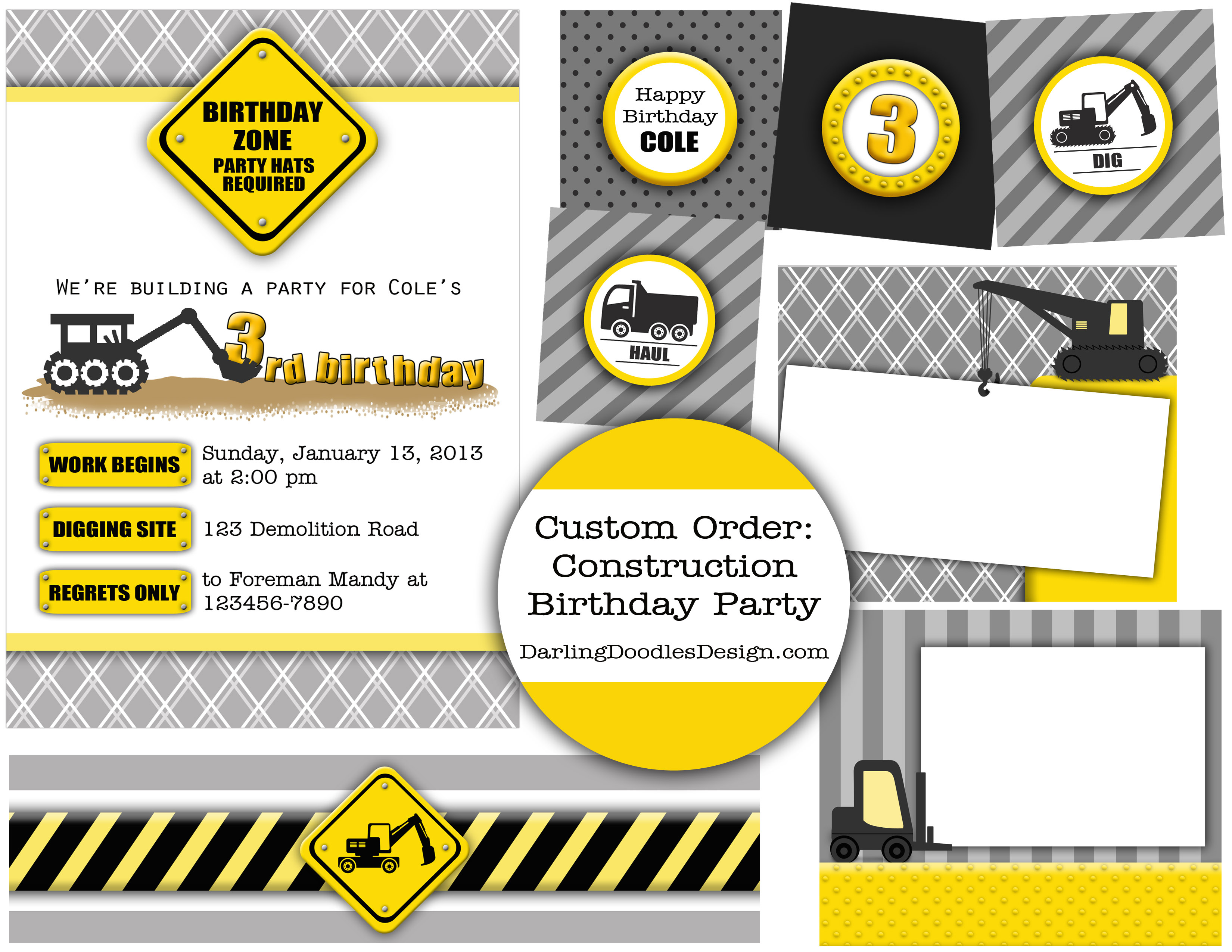 Dafafcbbaaaededc Spectacular Construction Birthday Invitations Free - Free Printable Construction Invitations