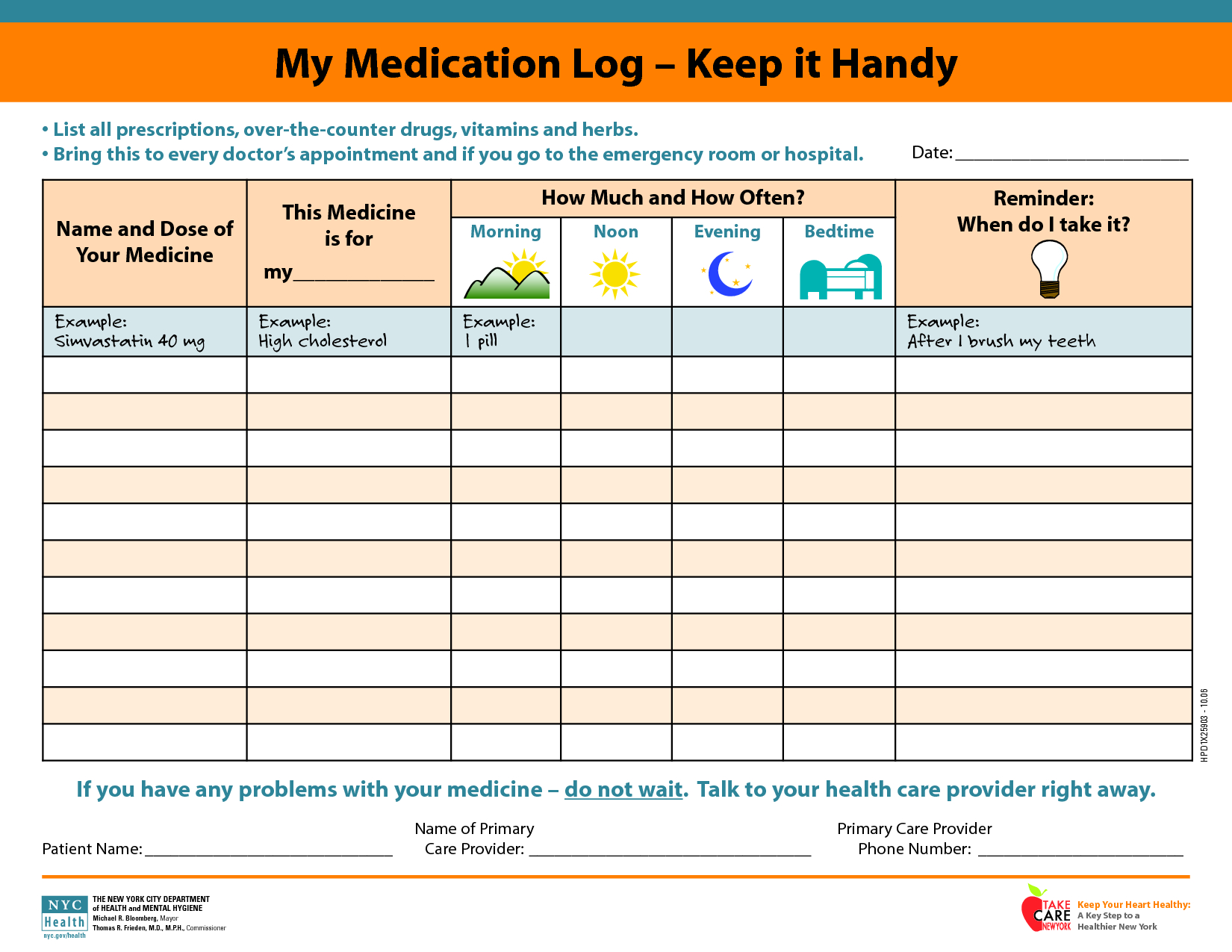 Daily+Medication+Schedule+Template | Printables | Pinterest | Daily - Free Printable Daily Medication Schedule