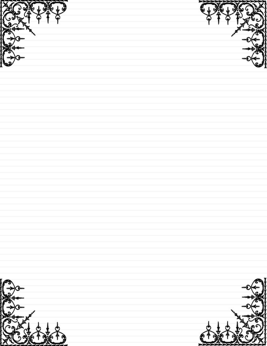 Daisy Stationery And Writing Paper. Owl Writing Paper Lined Letter - Free Printable Elegant Stationery Templates