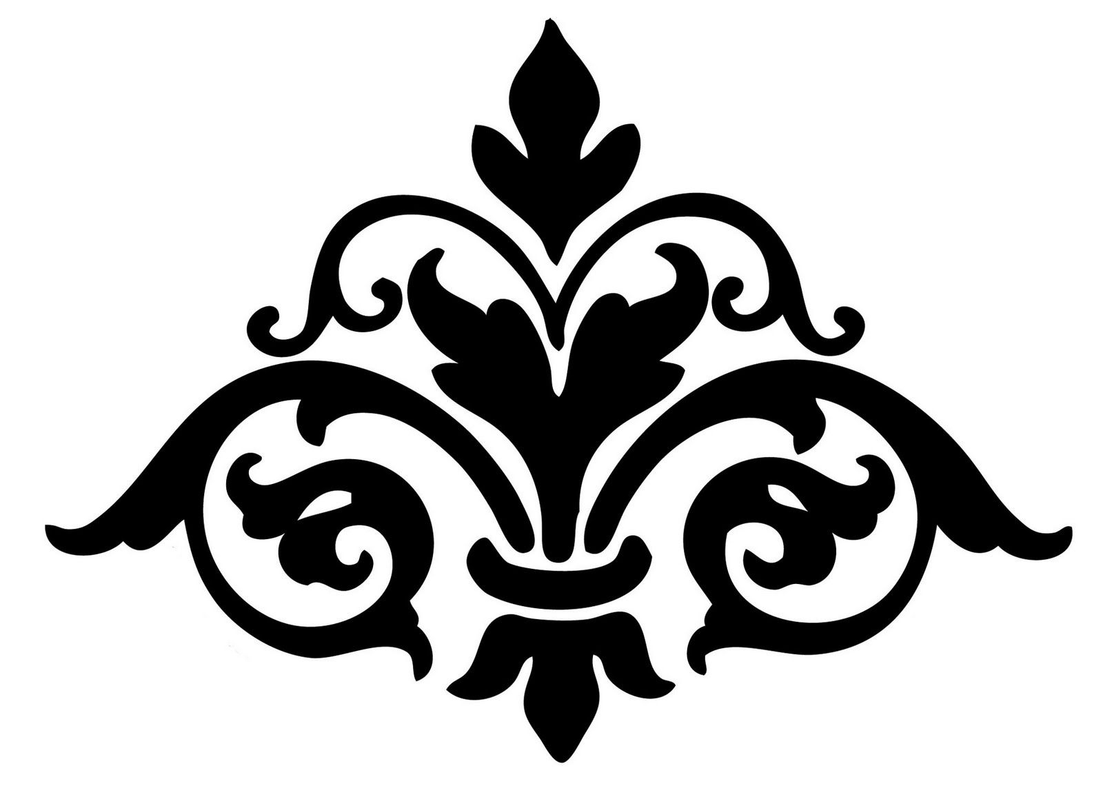 Damask Cliparts | Templates & Silhouettes | Stencils, Printable - Damask Stencil Printable Free