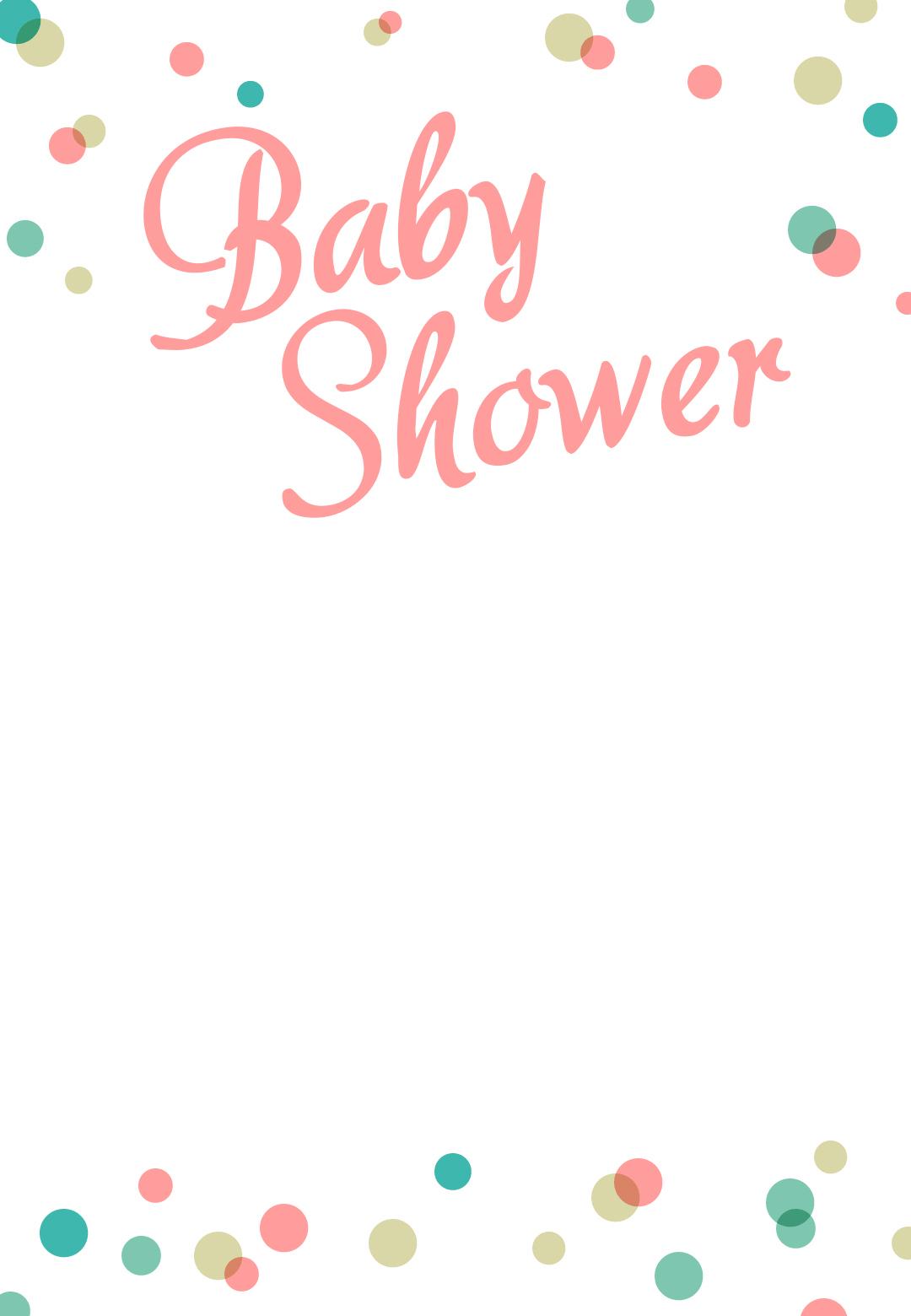 Dancing Dots Borders - Free Printable Baby Shower Invitation - Free Printable Blank Baby Shower Invitations