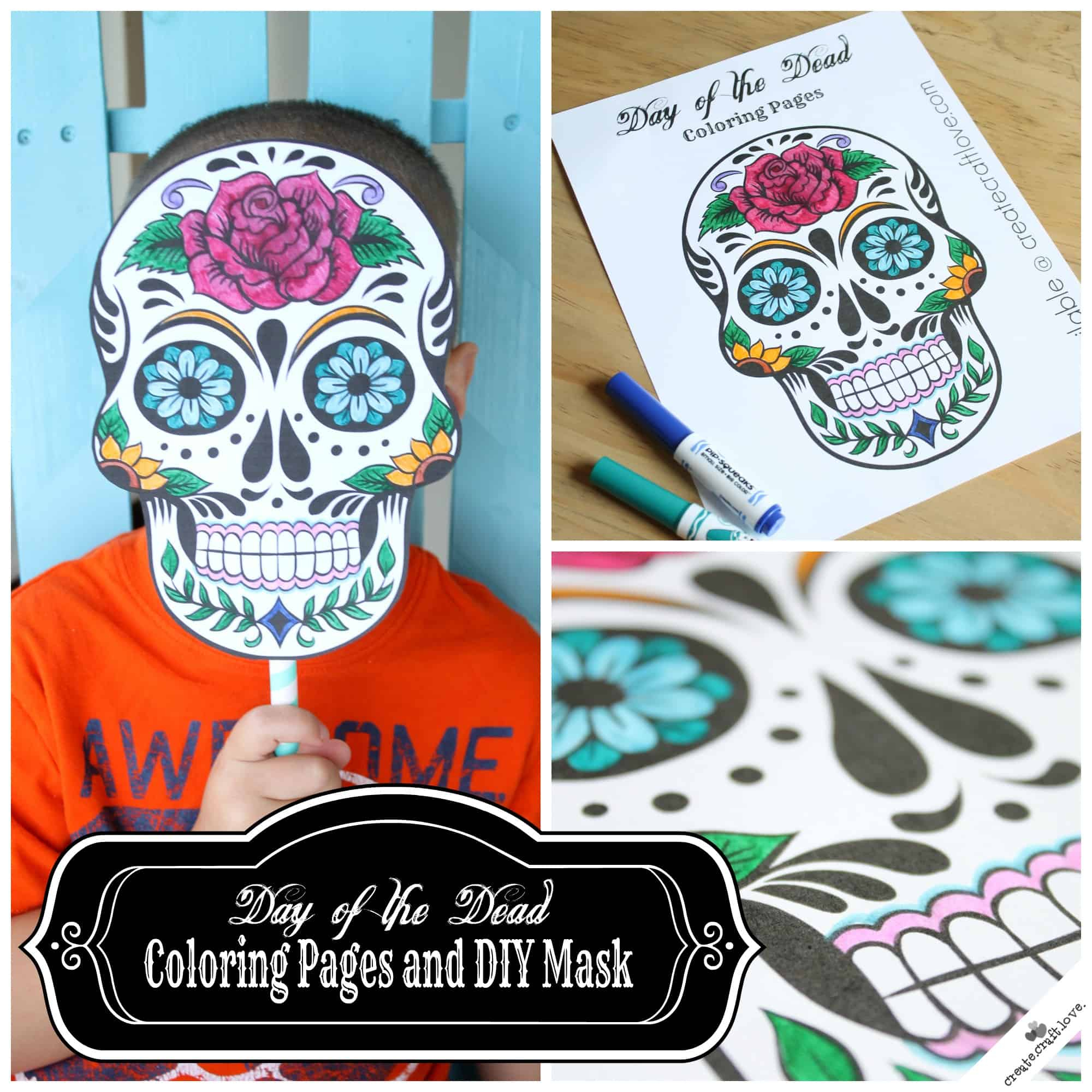 Day Of The Dead Mask Printable - Free Printable Day Of The Dead Worksheets