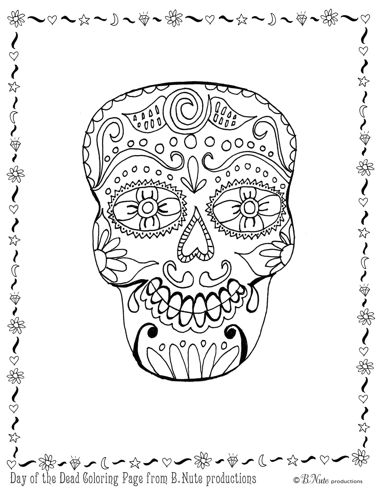 Day Of The Dead Worksheet | Free Printables Worksheet - Free Printable Day Of The Dead Worksheets