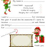 Dear Santa Fill In Letter Template     Free Printable Letter From Santa Template