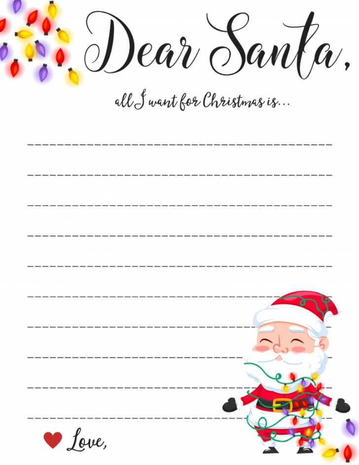 Letter To Santa Template Free Printable