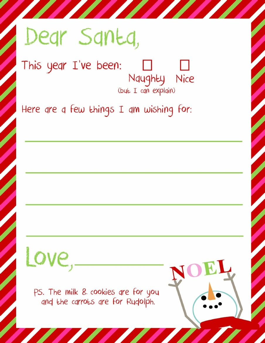 Dear Santa Letter Printable | Kindergarten - Holidays & Themes - Free Printable Dear Santa Stationary