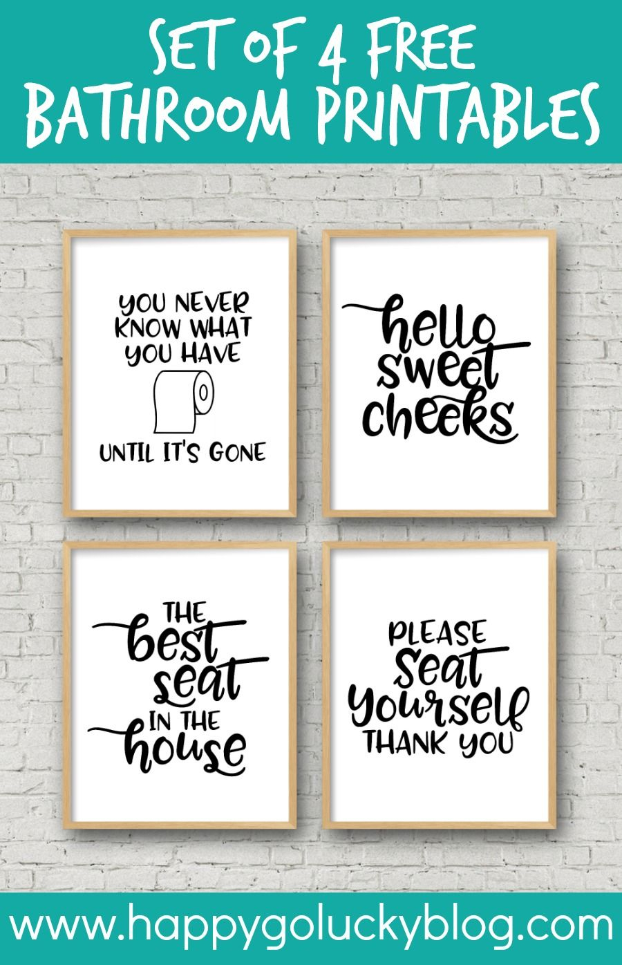 Decorate Your Bathroom With These Simple And Fun Printable Bathroom - Free Printable Bathroom Signs