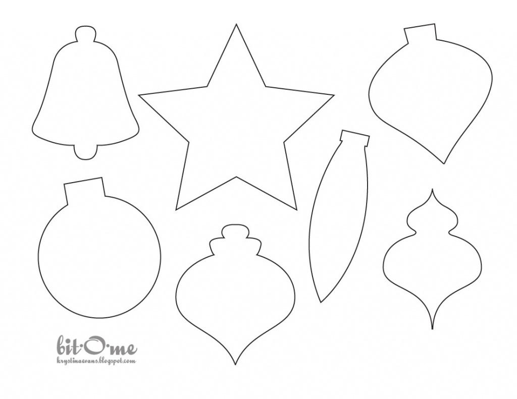 Decoration Templates - Saman.cinetonic.co Pertaining To Free - Free Printable Christmas Ornament Patterns