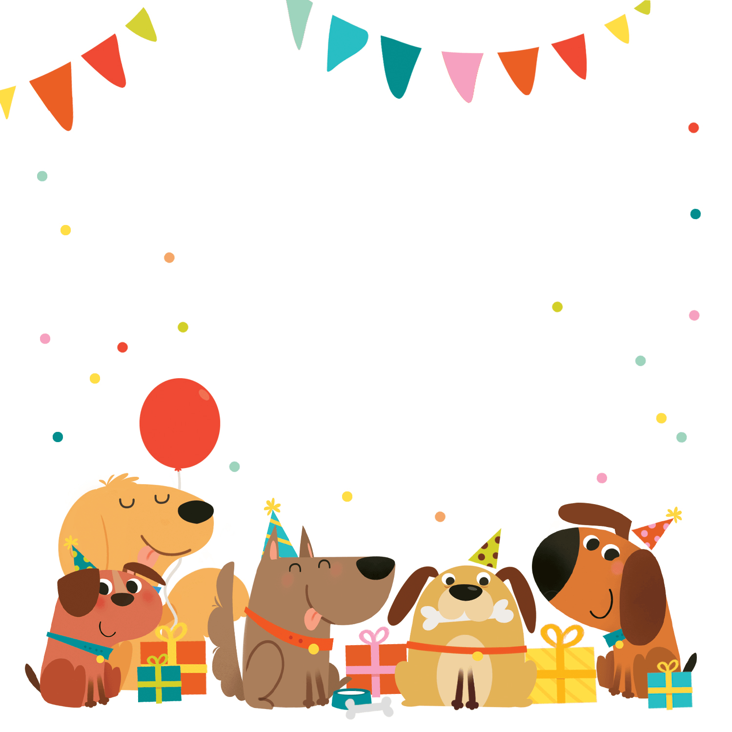Delighted Dogs - Free Printable Birthday Invitation Template - Dog Birthday Invitations Free Printable