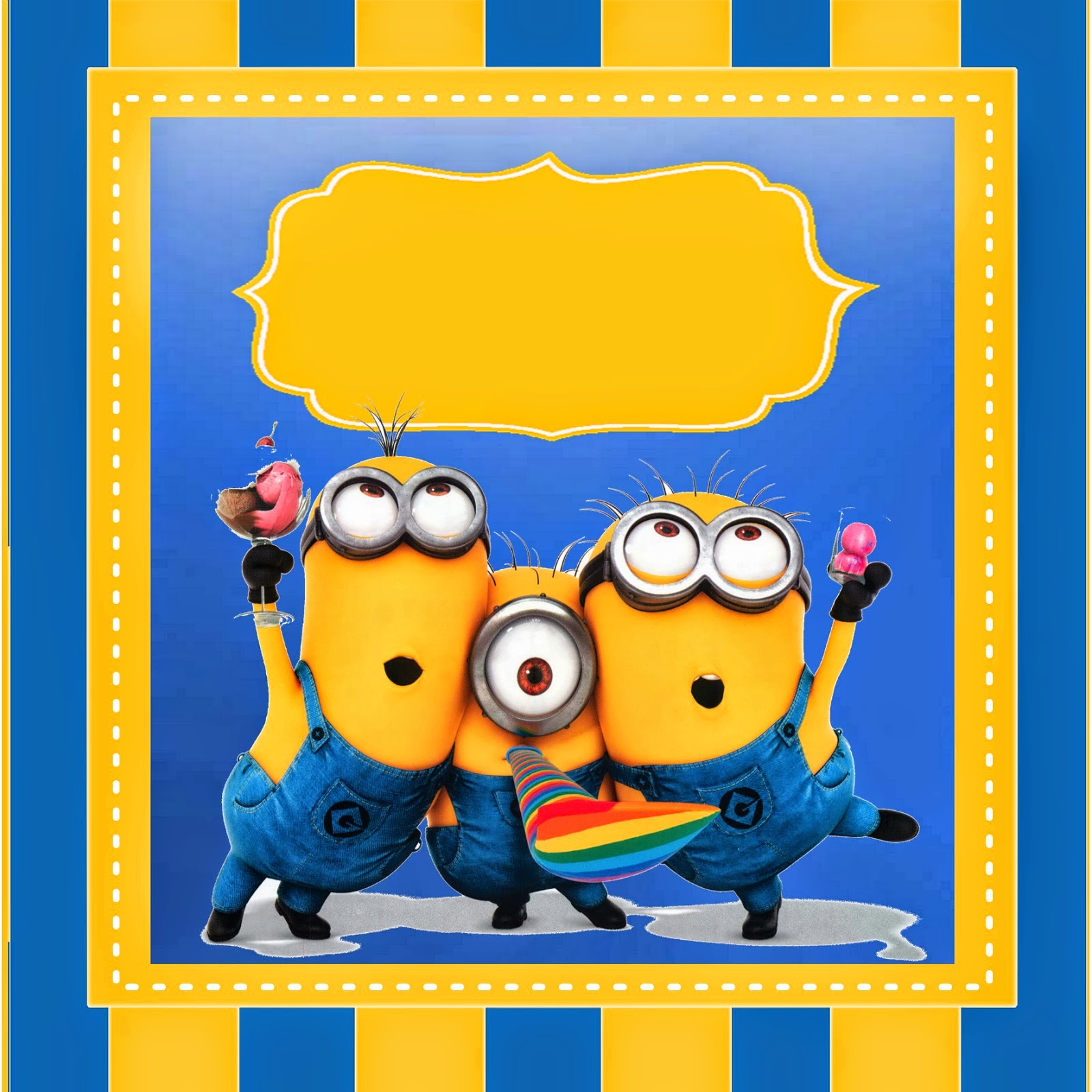 Despicable Me 2 Free Printable Kit. | Oh My Fiesta! In English - Free Printable Minion Food Labels