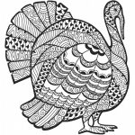 Detailed Turkey Advanced Coloring Page | A To Z Teacher Stuff   Free Printable Turkey Coloring Pages