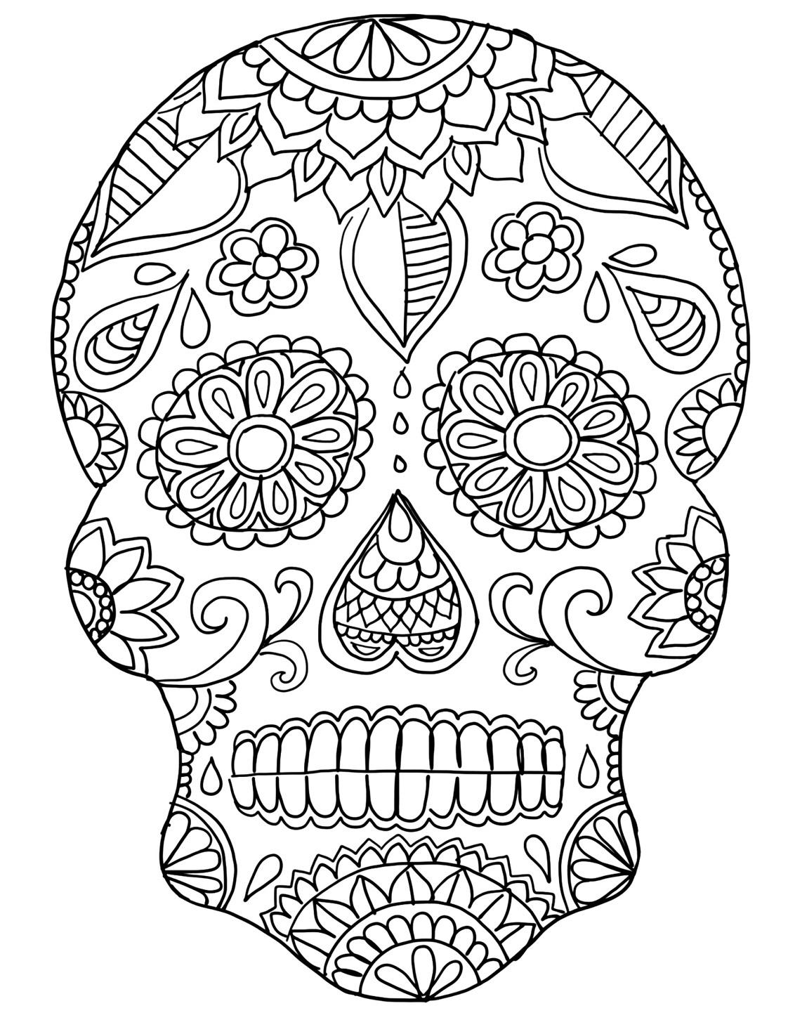 Día De Los Muertos - Day Of The Dead Sugar Skull Craft Ideas | Ooly - Free Printable Sugar Skull Day Of The Dead Mask