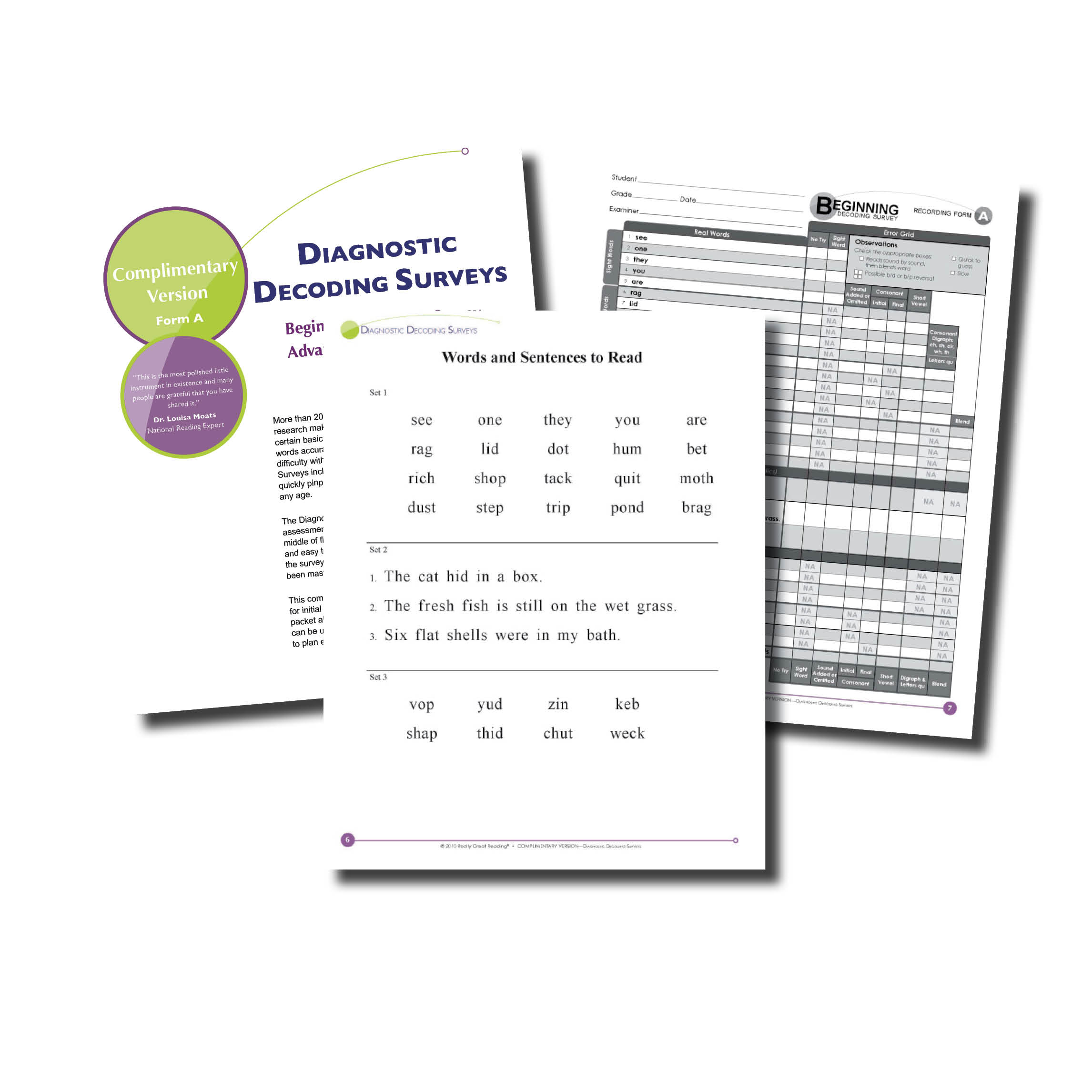 Diagnostic Decoding Surveys - Beginning And Advanced | Really Great - Free Printable Phonics Assessments