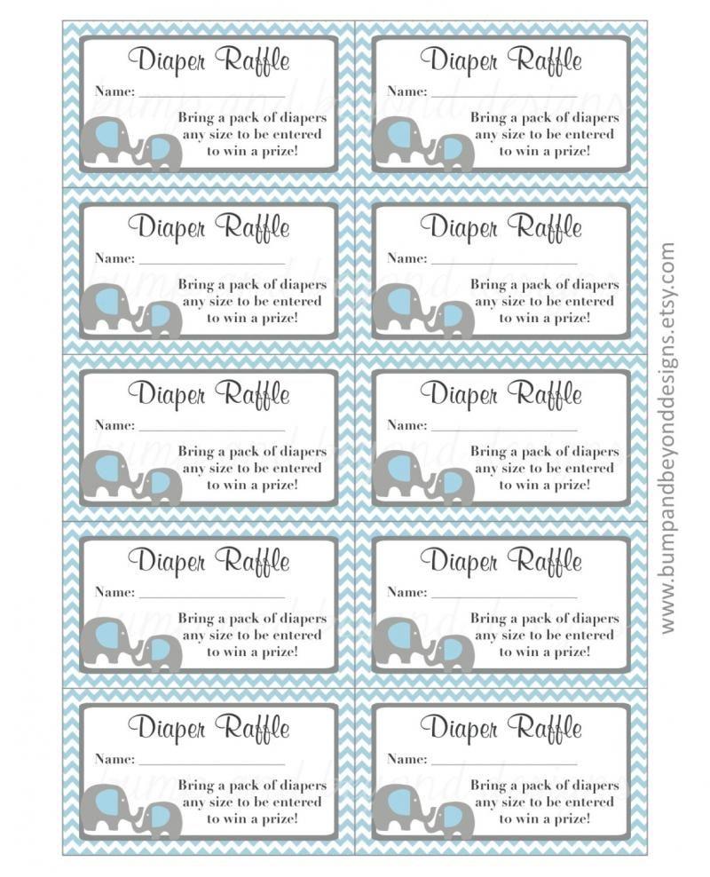 Diaper Raffle Tickets Free Printable - Yahoo Image Search Results - Free Printable Diaper Raffle Tickets Elephant