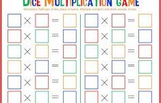 Dice Multiplication Math Game For Kids - Free Printable - Free Printable Maths Games