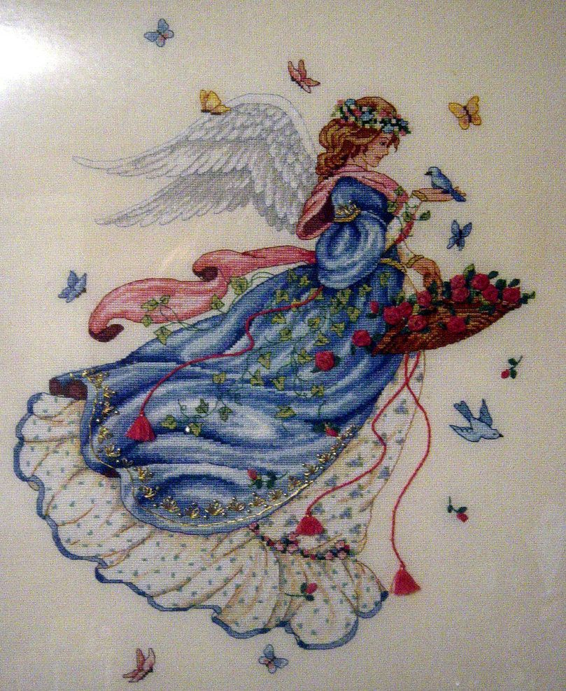 Dimensions Cross Stitch Patterns Free | Cross Stitch Angel - Free Printable Cross Stitch Patterns Angels