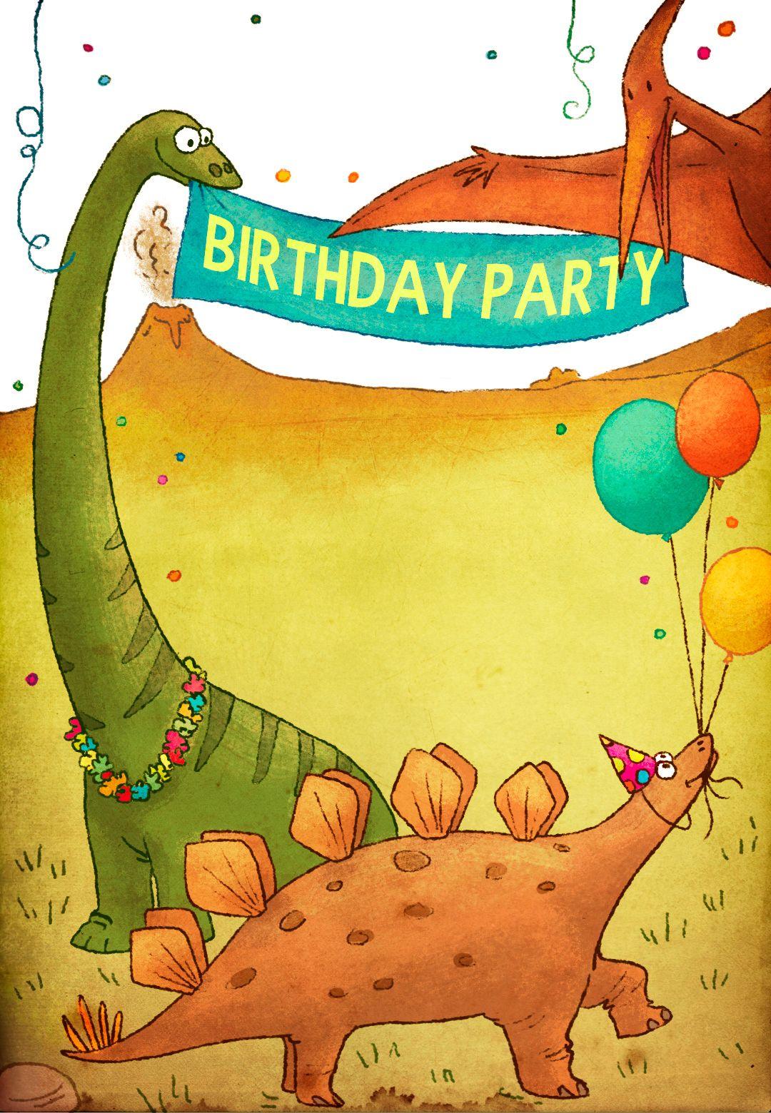 Dinosaurs Birthday Party - Free Printable Birthday Invitation - Free Printable Dinosaur Birthday Invitations