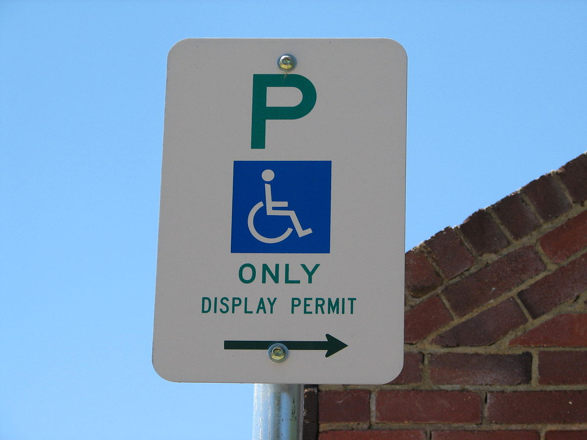 Disabled Parking Permit - Wikipedia - Free Printable Parking Permits