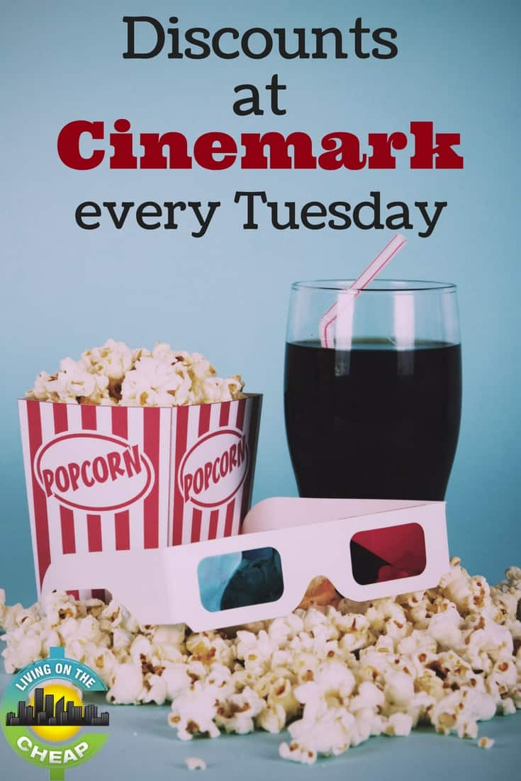 Discounts At Cinemark Every Tuesday - Living On The Cheap - Regal Cinema Free Popcorn Printable Coupons