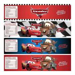 Disney Cars Water Bottle Labels   Personalized And Printable For   Free Printable Cars Water Bottle Labels