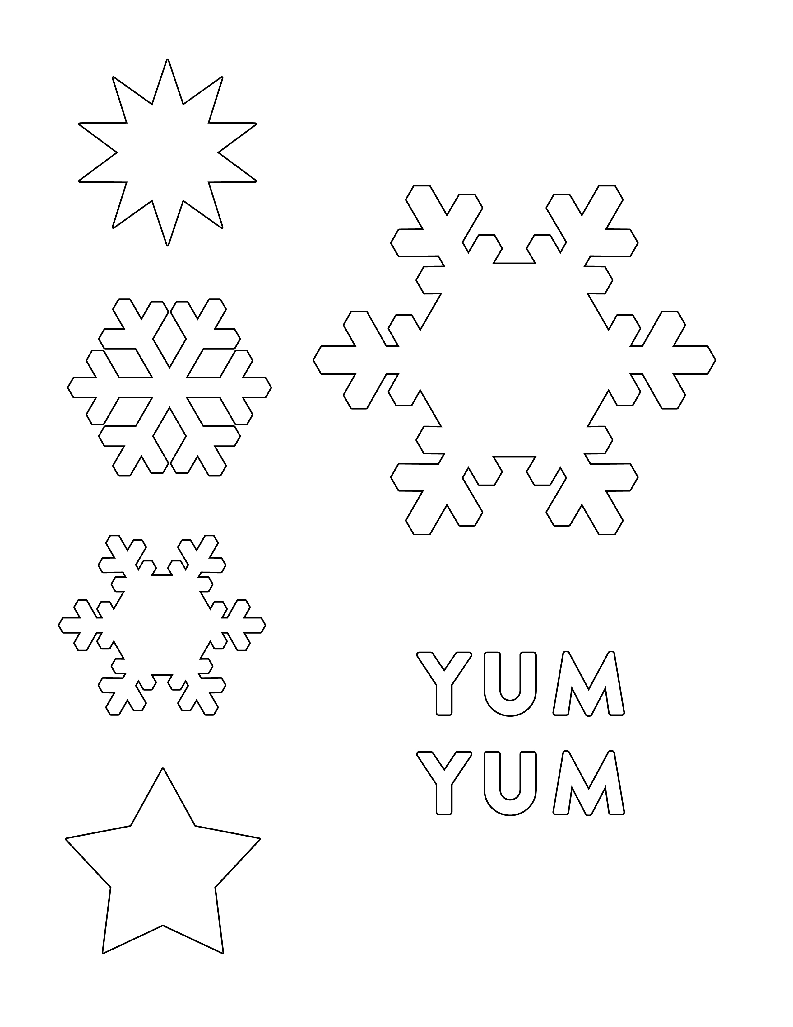 Disney-Frozen-Elsa-Snowflake-Hair-Barrettes-Printable-0813 - Disney - Snowflake Template Free Printable