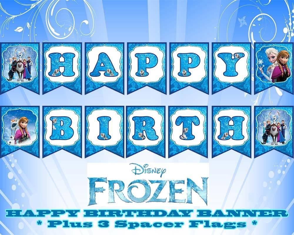 Disney Frozen Happy Birthday Banner   Birthday In 2019   Pinterest - Frozen Happy Birthday Banner Free Printable