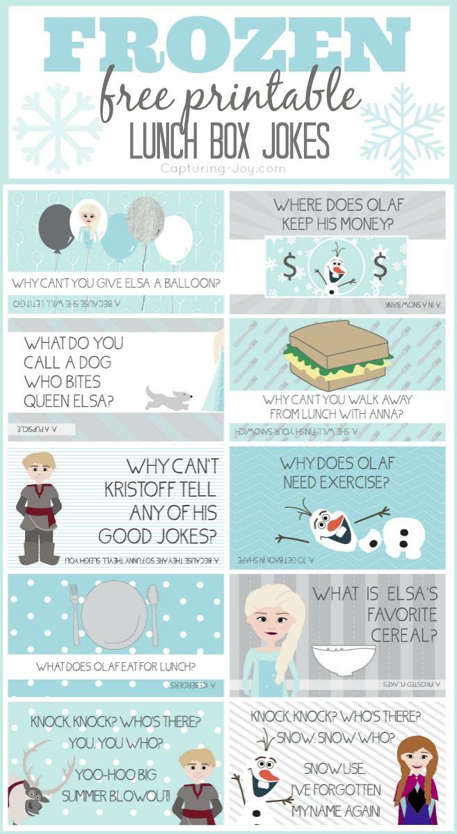 Disney Frozen Jokes | Bloggers' Fun Family Projects | Pinterest - Free Printable Jokes For Adults