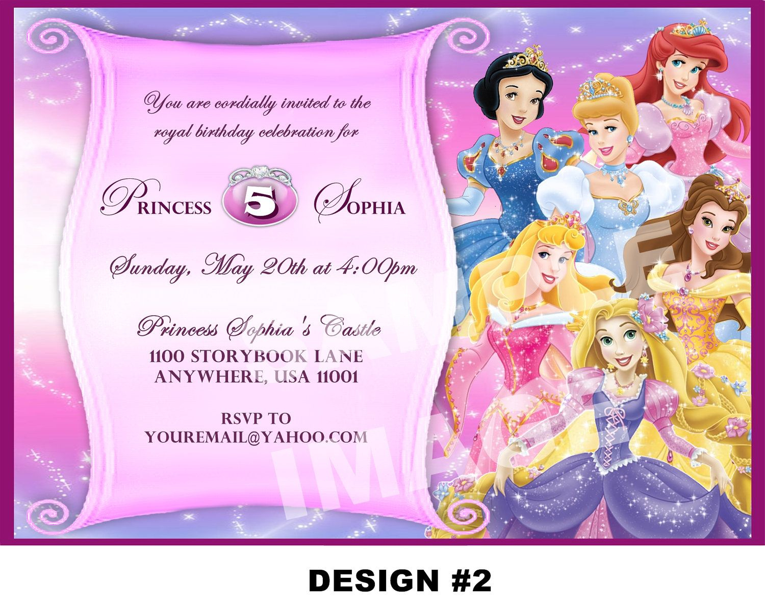 Disney Princess Birthday Invitation Card Maker Free | Party In 2019 - Free Printable Princess Invitation Cards