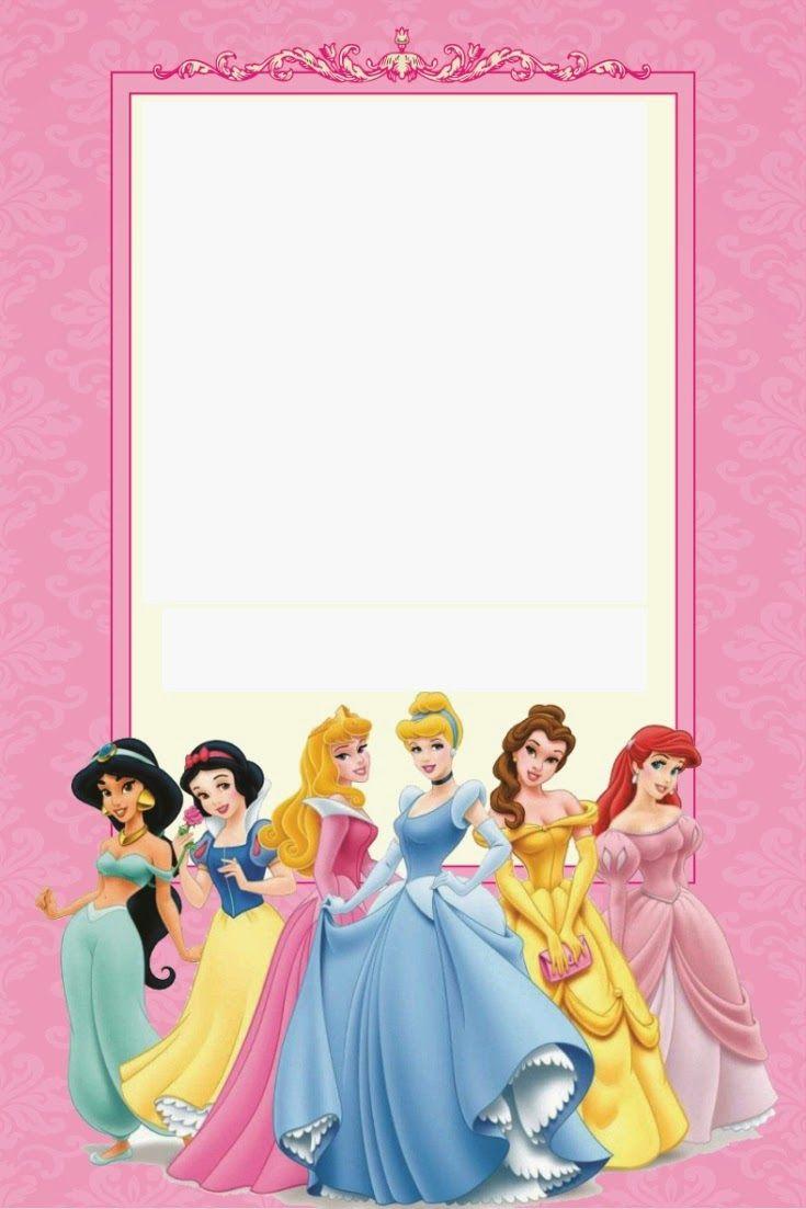 Disney Princess Birthday Invitations Printable Free | Borders And - Disney Princess Birthday Invitations Free Printable