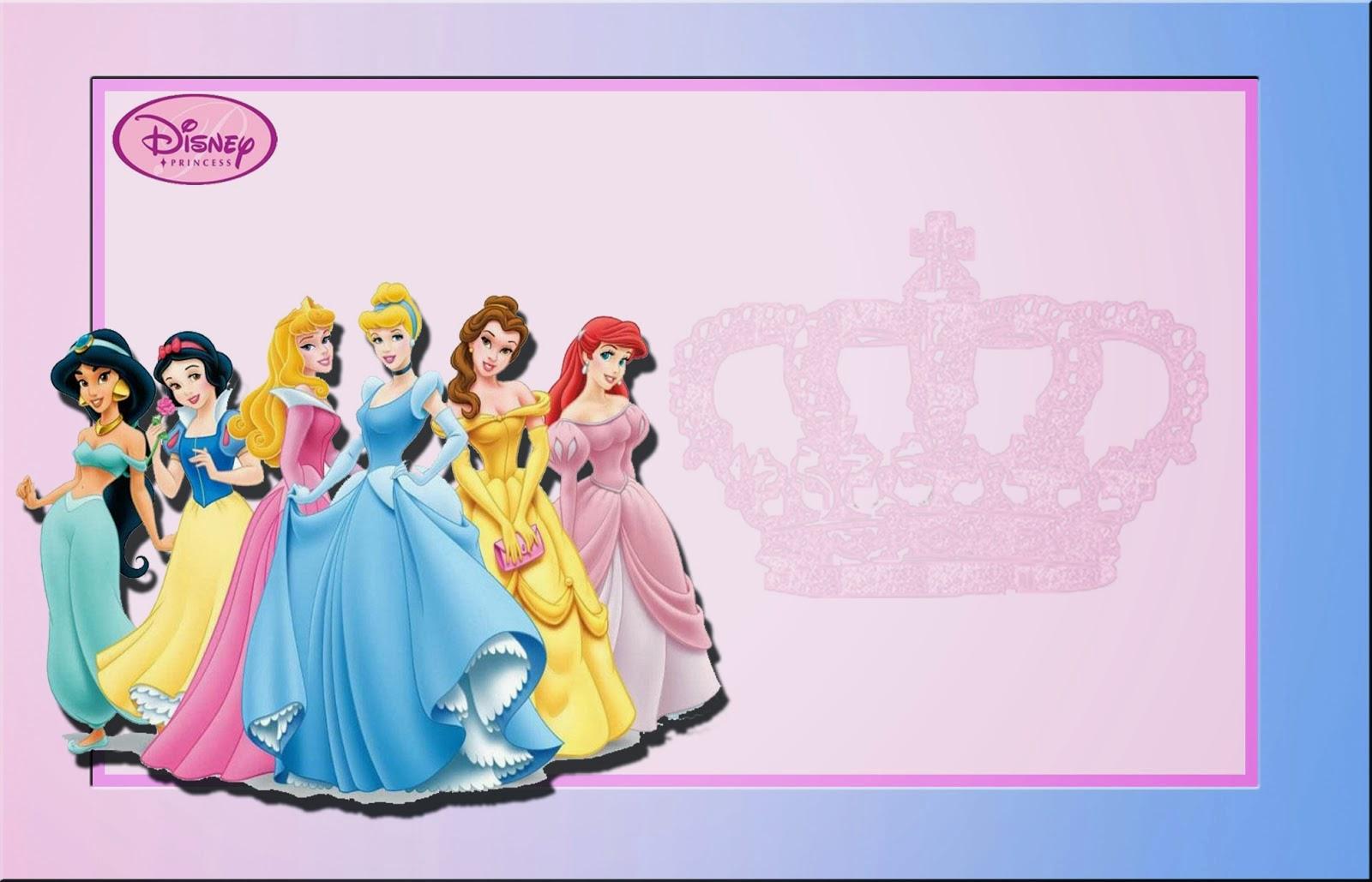 Disney Princess: Free Printable Invitations Or Photo Frames. | Oh My - Disney Princess Free Printable Invitations