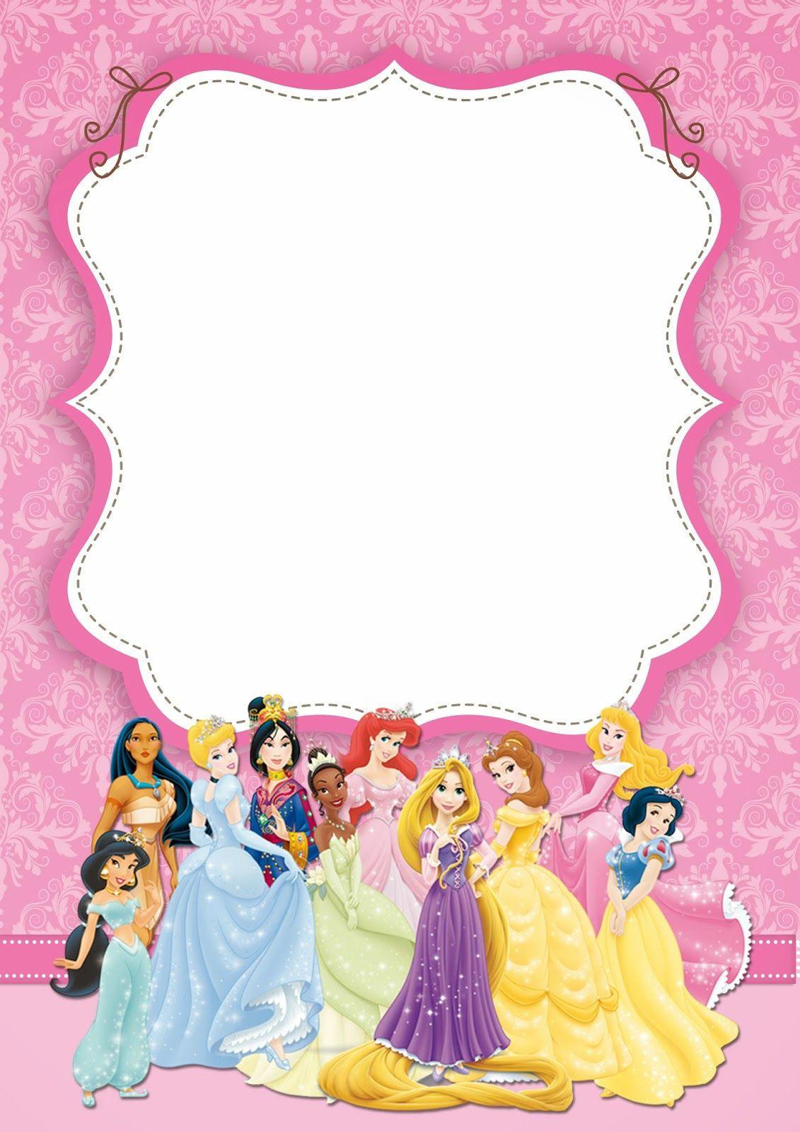 Disney Princess Party: Free Printable Party Invitations. | Oh My - Free Printable Disney Invitations