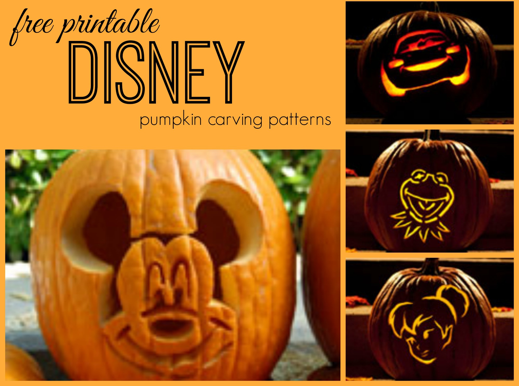 Disney Pumpkin Carving Patterns - Frugal Fanatic - Free Pumpkin Carving Patterns Disney Printable
