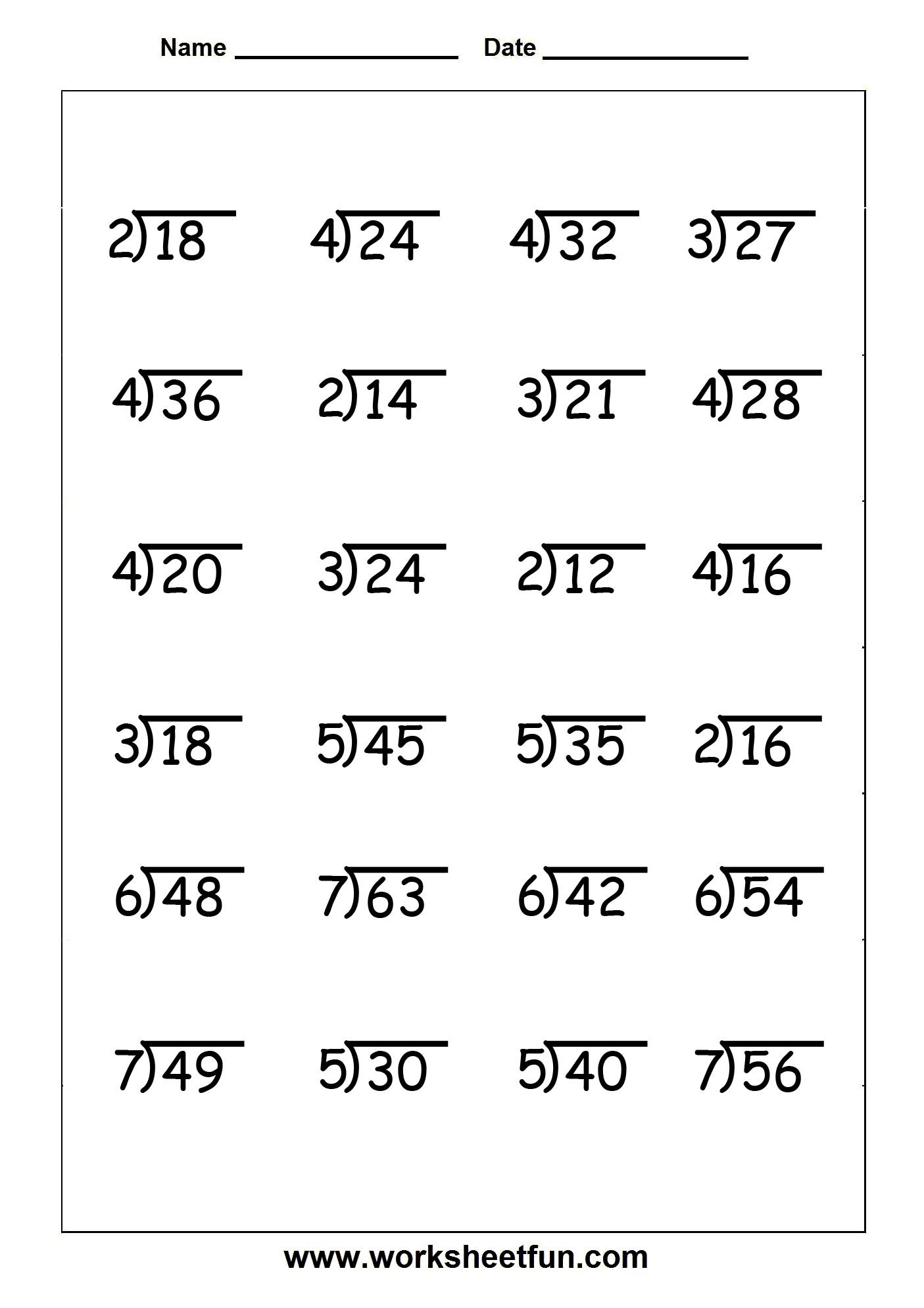 Division - 4 Worksheets | Printable Worksheets - Free Printable Division Worksheets For 4Th Grade