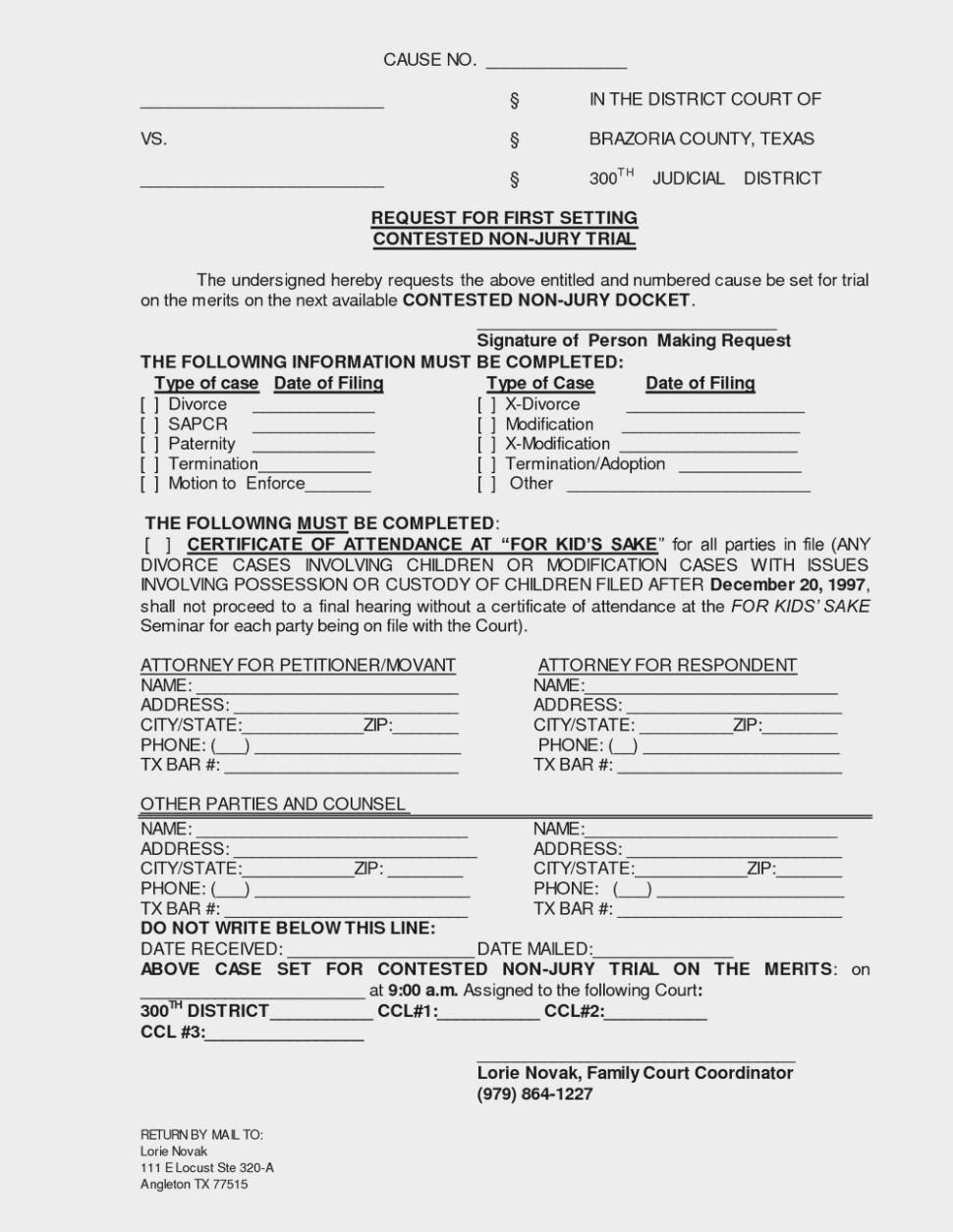 Divorce Papers Louisiana Best Of 30 Free Uncontested Divorce Forms - Free Printable Divorce Papers For Louisiana