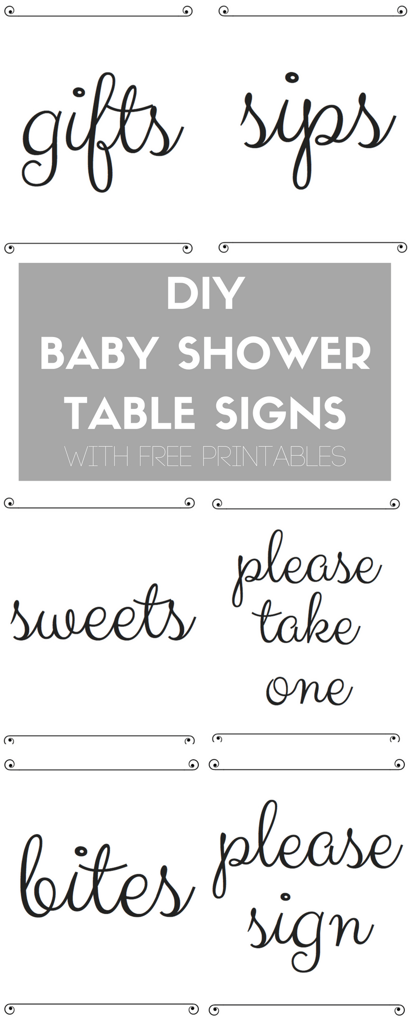 Diy Baby Shower Table Signs With Free Printables - Free Printable Baby Shower Table Signs
