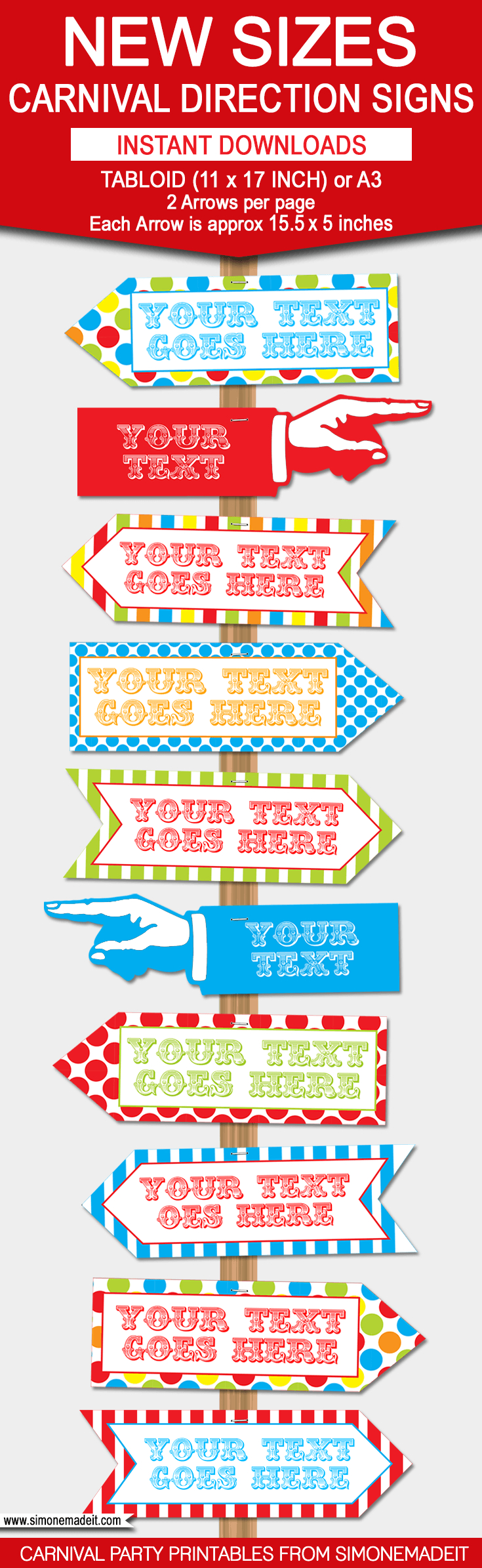 Diy Carnival Directional Sign | Carnival Party | Circus Party - Free Printable Carnival Signs